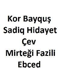 Kor Bayquş-Sadiq Hidayet-Çev-Mirteği Fazili-Ebced-114s