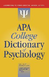 American Pscyhological Association-APA College Dictionary of Psychology-Amer Psychological Assn (2009)