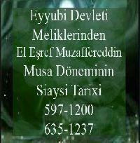 Eyyubi Devleti Meliklerinden El Eşref Muzafferetdin Musa Döneminin Siaysi Tarixi Önder Kaya