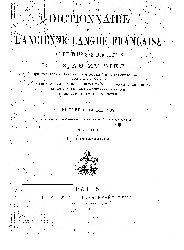 Dictionnaire De Lancienne Langue Franse Et De Tous Ses Dialectes-IX-XV-Fransızca-1884-803s