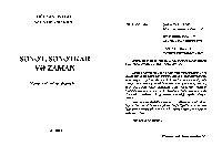 Senet-Senetkar Ve Zaman-Gülxanı Penah-Salatın Ehmedli-Baki-2014-602s