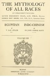 The Mythology Of All Races (Egyptian And Indo-Chinese)-W.Max Muller-Sir James George Scott-Ingilizce-1918-450s