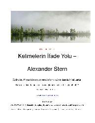 Kelimelerin İfade Yolu-Alexander Stern-2019-19