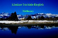 Khakas-xakas-Turkish-English Dictionary