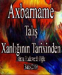 Axbarname -Talış Xanlığının Tarixindən - Mirza Əhməd