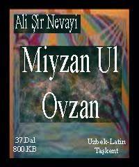 Miyzan Ul Ovzan Alisher Navoiy