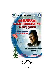 Uluslararası Klasik Türk Edebiyatı Simpozyomu-2013-861s