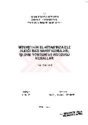 Sibeveyhin El Kitabinda Ele Aldığı Bezi Nehv Qonuları-Işleme Yöntemi Ve Qoyduğu Qurallar Ali Bulut-2003 318