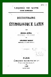 Dictionnair Etymologique -Etimolojik- Latin