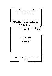 Türk Lehcələri Örnekleri-VIII Yüzyıldan XVIII Yüzyıla Kadar-Yazı Dili-Saadət Ş. Çağatay –Ankara-1977-391s