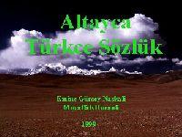 Altayca Türkce Sözlük