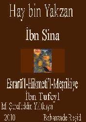 Hay Bin Yakzan-İbn Sina-İbn Tufeyl