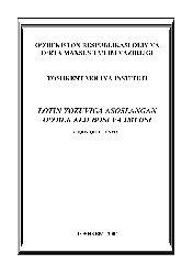 Latin Yazuviğa Asaslanğan Özbek Alifbası Va Imlasi - Nishonboy Husanov - Zuhra Resulova