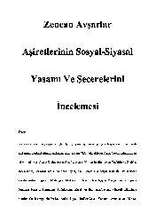 Zencan Avşarlar Eşiretlerinin Sosyal-Siyasal Yaşamı Ve Şecerelerini İncelemesi-11