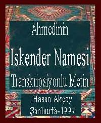 Ahmedinin Iskender Namesi Transkripsiyonlu Metin - Hasan Akçay