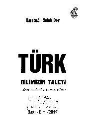Qarabağlı Saleh Bey-Türk Dilimizin Geleceyi 2011 72s