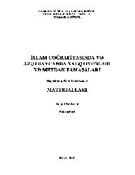 Azerbaycan Folklorunda Tolerantlıq Ve Multikültüratizm-Metanet Yaqubqızı-Baki-2016-183s