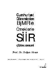 Cumhuriyetden Günümüze Şiir Çözümlemeleri-Doğan Aksan-2003-240s