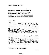 Osmanlıdan Cumhuriyete Misyonerlerin Türkiyedeki Eğitim ve .Oğretim çalışmalari Dr. Ayten sezer15
