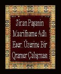 Sinan Paşanin Maarifname Adlı Eseri Üzerine Bir Qramer Çalışması