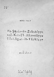 Eşşuuruz Zehebiyye Vel Qitail Ahmediye Filluğatit Türkiye-Molla Salih-Besim Atalay-1949-71s