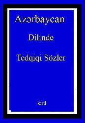 Azərbaycan Dilinde Tedqiqi Sözler