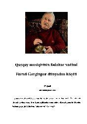 Qaşqay Musiqisinin Fədakar Qulluqçusu Furud Gorginpur Dünyadan Köçdü-Eli Şamil-7s