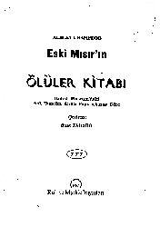 Mısırın Ölüler Kitabı-Albert Champdor