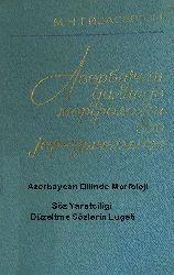 Azerbaycan Dilinde Morfoloji Söz Yaratcilığı – Düzəltmə Sözlərin Luğəti - M.N.Qiyasbəyli - Baki-1987 – Kiril 179s