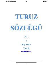 Turuz Sözlügü 2021 6  Bey Hadi  Tebriz 555s