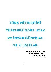 Türklere Göre Uzay Ve Insan Güneş Ay Ve Yıldızlar
