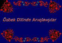 Özbek Dilinde Anıqlavçılar