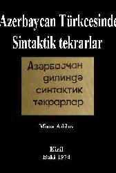 Azerbaycan Türkcesinde Sintaktik tekrarlar