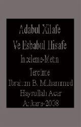 Adabul Xilafe Ve Esbabul Hisafe -Inceleme-Metin-Tercüme
