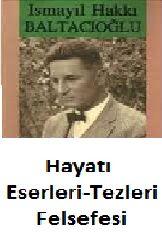 Ismayıl Haqqi Baltaçıoğlu-Hayat-Eserleri-Tezleri-Felsefesi-Sabri Qolçaq-1968-135s