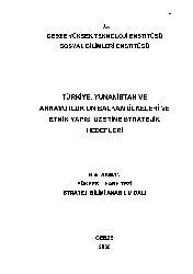 Türkiye Yunanistan Ve Arnavutluqun Balkan Ülkeleri Ve Etnik Yapısı Üzerine Stratejik Hedefleri-Xelil Akman-2006-295s