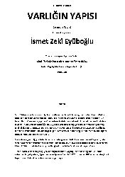 Varlığın Yapısı-Çev-İsmet Zeki Eyyüboğlu-Eyüboğlu-2001-295s