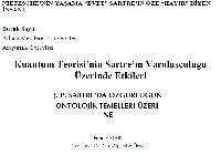Kesli-1-Nietzschenin Yaşama Evet-Sartrıin Öze Xayır Diyen Insanı-10s-2-Kuantum Teorisinin Sartrın Varoluşçuluğu Üzerinde Etgileri-25s-3-Sartrda Özgürlüğün Ontolojik Temelleri Üzerine-12s