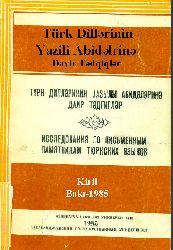 Türk Dillərinin Yazili Abidəlrinə Dayir Tədqiqlər