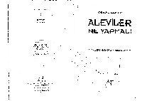 Aleviler Ne Yapmalı-Alevilerin Güncel-Tarixsel Görevi-Cemal Şener-2002-160s